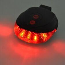 Laser 2 + 3 LED Cycling Bicycle Bike Taillight Warning Lamp Flashing Alarm Light