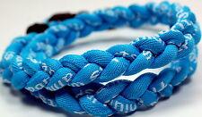"""SALE 18"""" All Light Blue Aqua Baseball Titanium Necklace Tornado FREE SHIPPING"""