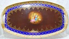 GRAND PLATEAU PORCELAINE BOHEME FSK Fine Art Work CZECHO-SLOVAKIA 1900 49x28 cm