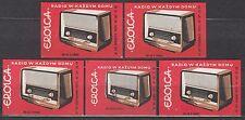 "POLAND 1961 Matchbox Label - Cat.Z#239I/V  Radio in every home (I) ""Eroica"""