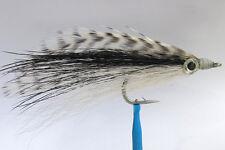 1 x Mouche peche BAITFISH NOIR H2/0 fly fishing fliegen bass bug saltwater black