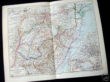ORIG. OLD MAP + ARTICLE~BOERWAR~S. AFRICA~MEYERS~1909