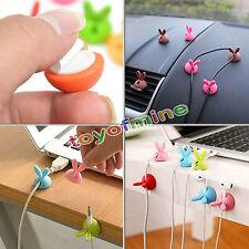 6stk praktisch Kaninchen-Ohr Halter USB Draht Kabel Ordnung Träger Kabelmanager