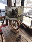 Vintage+Western+MCM+Wagon+Wheel+Brandt+Ranch+Style+Lamp+Photograph+Shade