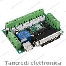 Interfaccia cnc 5 assi parallela breakout board mach 3 motore passo passo