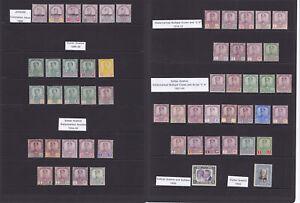 Johore. 1896-1940. Fine mounted mint selection.