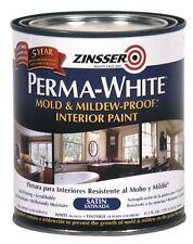 RUST-OLEUM 02704 Bathroom Paint, White Satin, New, Free Shipping
