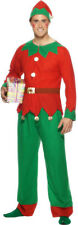 Mens Elf Costume Plus Hat Fun Festive Christmas Fancy Dress Outfit Smiffys 26025 XL - Extra Large