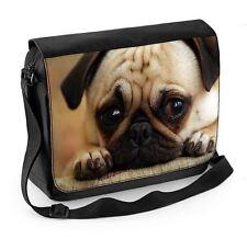 Pug Dog Face Laptop Messenger Bag - Cute Pugs Gift Present