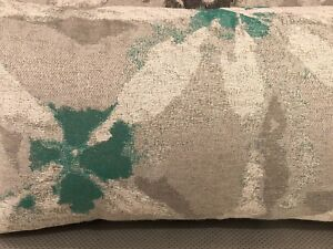 """Grey Multi-colored Handmade cushion with feather insert - 24"""" x 12.5"""""""
