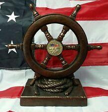 US Naval Special Warfare DevGru Seal Team Ship Wheel Handmade Sculpture LTD.ED.5