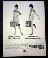 Life Magazine Ad RCA PORTABLE TV 1966 Ad