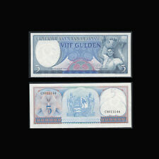 Suriname, 5 Gulden, 1963, P-30, UNC, Woman with fruit basket, BN474