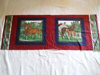 Cranston VIP Horses Foals Stable Barns Pillow Panels 100% Cotton Fabric