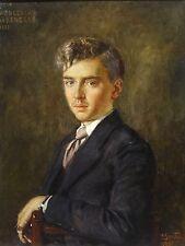 Fine Large 1935 Portrait Young Gentleman Wenceslas De RENESSE Oil Painting