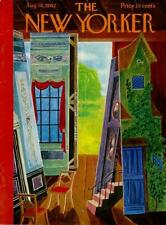 1962 New Yorker Magazine COVER ONLY Ilonka Karasz Art theme: Prop Shed