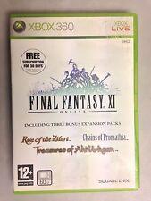 Final Fantasy XI  XBOX360 Game  Inc Expansion packs UK PAL