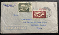 1950s Lisbon Portugal Airmail Commercial Cover To Portland OR USA