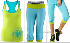 ZUMBA HipHop Light Weight Compy Sweats Capri PANTS & RACERBACK Top 2 Pc.SET! S M