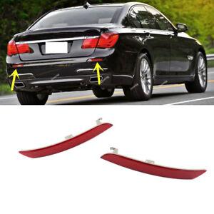 Pair Rear Bumper Red Reflector Light for BMW F01 F02 F03 F04 730i 740i 750i