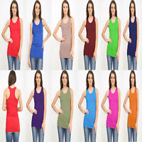 Women's Ladies Sleeveless Race Back Bodycon Muscle Vest Top Gym Top 8-26
