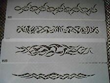 Airbrush Temporary Tattoo Stencil Set 43 Barbwire Bands New by Island Tribal!