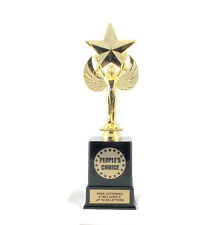 People's Choice Trophy- Recognition- Achievement- Winner- Custom- Free Lettering