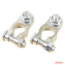 Pair of Positive & Negative Cargo Type Zinc Battery Terminals Clamp Connector