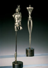 Das Königspaar, König und Dame, Paul Wunderlich, Bronze, versilbert