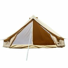6M Waterproof Glamping Large Cotton Canvas Bell Tent British Yurt Camping Tent