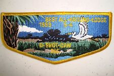 OA O-SHOT-CAW LODGE 265 S FLORIDA 1999 S-4 'BEST ALL AROUND LODGE' SERVICE FLAP