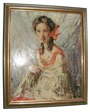 Ernst Reinhard Zimmermann damenbildnis 1928 ölgemälde signiert art deco gemälde