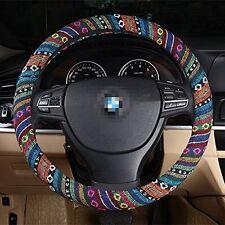 Car Auto Steering Wheel Cover 38cm/ 15'' Wrap Natural Fibers Anti Slip Universal