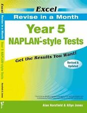 EXCEL - YEAR 5 NAPLAN * - REVISE IN A MONTH STYLE TESTS CHILDRENS EDUCATION BOOK