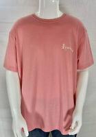 Caribbean T-shirt Size XL Mens Short Sleeve Tee Pink Tropical NWT