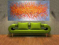180cm Aboriginal inspired Art Painting bush fire outback landscape MADE TO ORDER