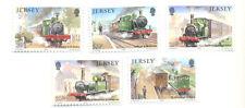 Trains Steam trains set mnh-Jersey 1985-Paintings - Art