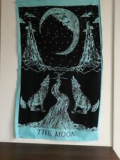 Blue Crying Wolf Indian Wall Hanging Tapestry Hippie Mandala Art Decor Home