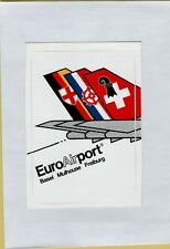 adesivo vintage sticker euro airport basel mulhouse freiburg
