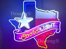 "New Coors Light Texas Lone Star Neon Sign 24""x20"" Hd Vivid Printing Technology"