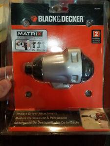 Black and Decker IMPACT DRIVER ATTACHMENT Matrix Quick Connect BDCMTI New!!