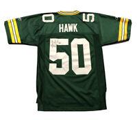 Men's Reebok AJ Hawk #50 Green Bay Packers Autographed NFL Jersey Sz S Small