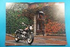 New NOS Kawasaki W650 Sales Brochure Japan