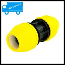 HOME FLEX 1.5 in Poly Gas Pipe Coupler Underground Yellow IPS DR 11 Comp Fitting