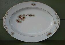 """Fukagawa Arita PINE CONE Pattern 504 16 1/2"""" Oval Serving Platter"""
