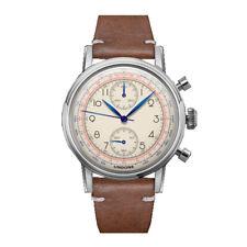 Undone Killy Hybrid Quartz Mechanic Chronograph Steel White Leather Men's Watch