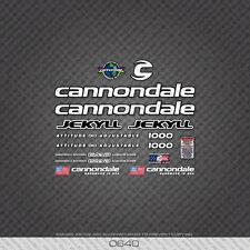 0640 Bianco Cannondale Jekyll Bicicletta Adesivi-Decalcomanie-Transfers