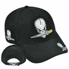 Stoned Bone Skull Pirate Sword Hat Cap Adjustable Acrylic  Curved Bill