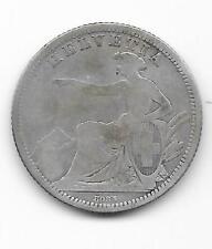rare 1 Franc argent 1861 B - Suisse - Switzerland  (5)