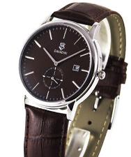Cavadini -zentralsekunde Steel Men's Watch in Brown Model 2018